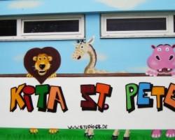 Graffiti Bürstadt Studio68 - KITA St. Peter