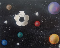 Graffiti Mannheim Leinwand Studio68 - Planet Fussball