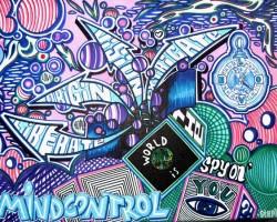 Graffiti Mannheim Leinwand Studio68 - Mindcontrol