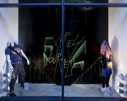 Studio68 Graffiti Mannheim Mural - Engelhorn-Trendhouse-Schaufenster