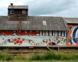 Graffiti Bürstadt Studio68 - Bahnhof