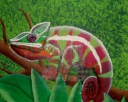 Graffiti Bürstadt Studio68 - Panther-Chameleon