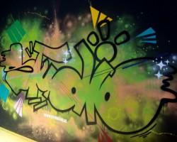 Graffiti Mannheim Studio68 - Technoseum Nano-Ausstellung