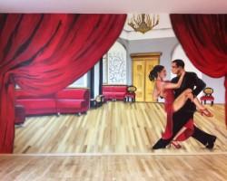 Studio68 Graffiti Mannheim Tanzsaal