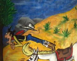 Graffitti Bürstadt Studio68 - LuckyLuke